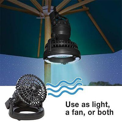 18 LED Camping Lantern and Ceiling Fan Combo Set - Ceiling Tent Fan W/ LED Light