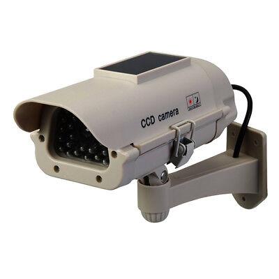 Silverline Solarbetriebene Überwachungskamera-Attrappe mit LED-Licht NEU