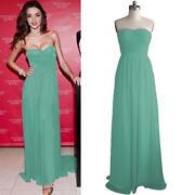 Long Strapless Chiffon Dress