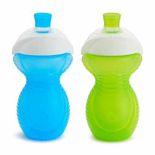 new Click Lock Bite Proof Sippy Cup, Blue/Green, 9 Ounce, 2 Count