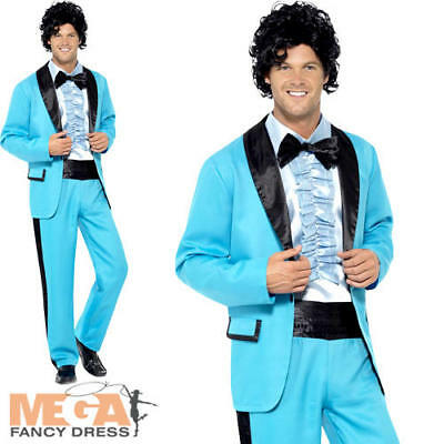 80s Prom King Mens Fancy Dress 1980s Disco High School Tuxedo Suit Adult Costume](80s Prom Costume Men)