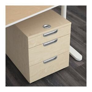 GALANT IKEA's Drawer unit on casters, birch veneer,17 3/4x21 5/8