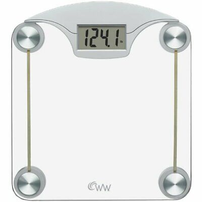 Weight Watchers Scales by Conair Digital Glass Weight Scale; Chrome / Clear Glas