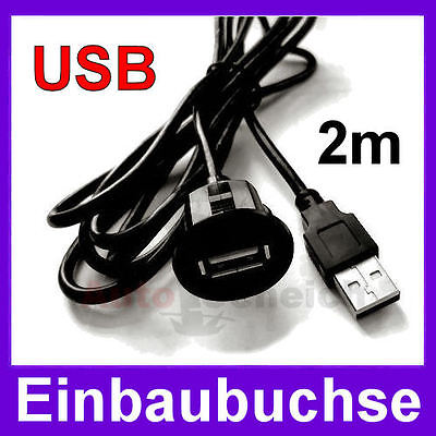 USB Einbau Buchse Adapter Kabel Anschluss AUX IN Verlängerung KFZ MP3 iPod PC VW online kaufen