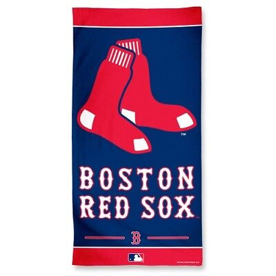 Sox Fiber - Boston Red Sox 30x60 Fiber Reactive Beach Towel Authentic MLB Hologram NWT