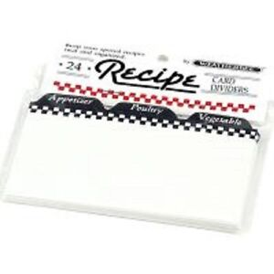 Recipe Card Dividers Organize Your 4