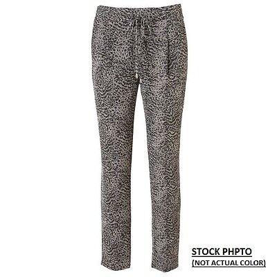 New Jennifer Lopez Women Cheetah Foil Soft Ankle Pants Size XS Msrp $50.00