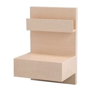 IKEA Malm Side Table with Drawer (Attached to Malm Frame) London Ontario image 1