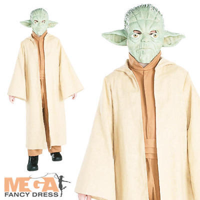 Girl Yoda Costume (Yoda Kids Fancy Dress Star Wars Sci-Fi Movie Character Boys Girls Costume)