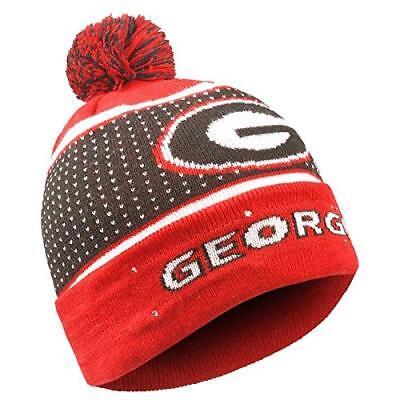 NCAA Georgia Bulldogs 2018 Big Logo Light Up Knit Beanie Hat Georgia Bulldogs Red Light
