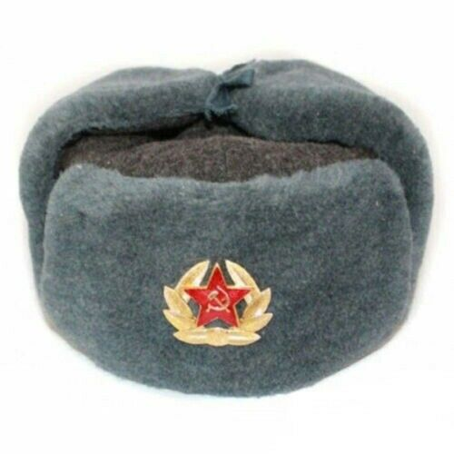 d689e17e5 Authentic Russian Army Winter Ushanka Hat + Badge Red Star with Hammer &  Sickle | in Barnet, London | Gumtree