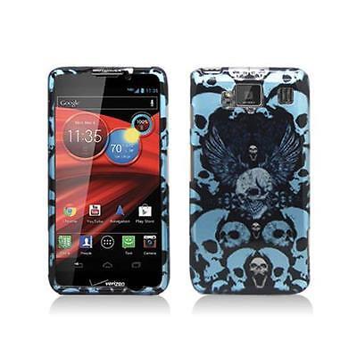 Blue Skulls Design Snap-On Hard Case Cover for Motorola Droid Razr Maxx Hd Design Snap Case
