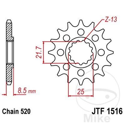 JT MOTORRAD RACING RITZEL 16 Z HNE TEILUNG 520 JTF1516 16