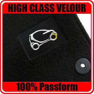 Smart Fortwo 451 ab Bj 04 /2007 - Logo Velours Autoteppiche/ Auto-Fußmatten 2tlg