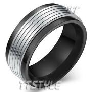 Mens Two Tone Ring