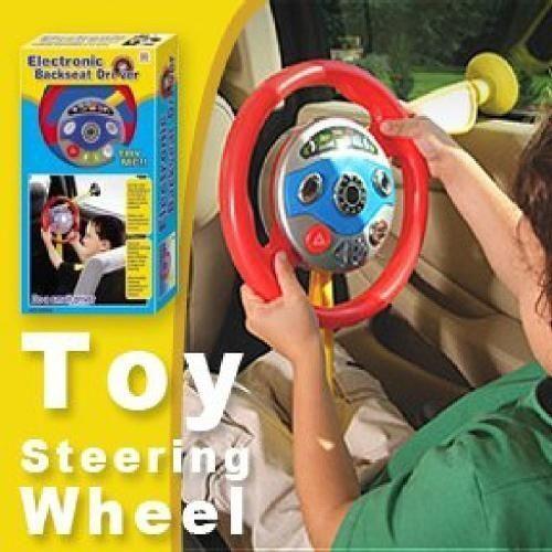 Kids Toy Backseat Steering Wheel Electronic Car Driver