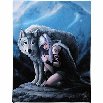 Anne Stokes Kindred Spirits Canvas Art Print by Anne Stokes 7 x -