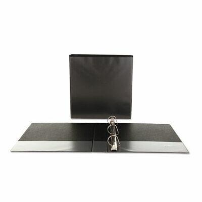 Universal Economy D-Ring Vinyl View 3-Ring Binder, 1-1/2 In. Capacity, Black, EA