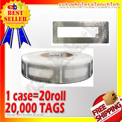 20000 Pcs Checkpoint Compatible Cosmetic Soft Label Tag Case 8.2mhz