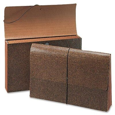 Smead 72373 Leather-like Partition Wallets With Elastic Cord - Letter - -