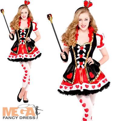 Queen of Hearts Girls Fancy Dress Fairytale Book Kids Childs Teen Costume - Teen Queen Of Hearts Kostüm