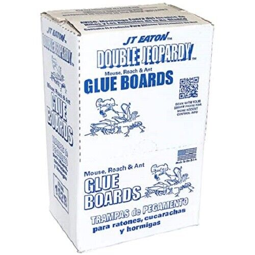 Double Jeopardy Glue Board Inserts Mice Traps 12 Sheets X 2 Boards = 24 Traps! Home & Garden