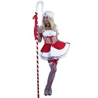 Adult Sexy Little Bo Peep Red and White Adult Costume Size Medium 8-10 - Little Bo Peep Adult Costume