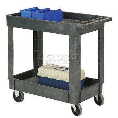 Best Value Plastic 2 Shelf Tray Service Amp Utility Cart 34 X 17 5 Rubber ...