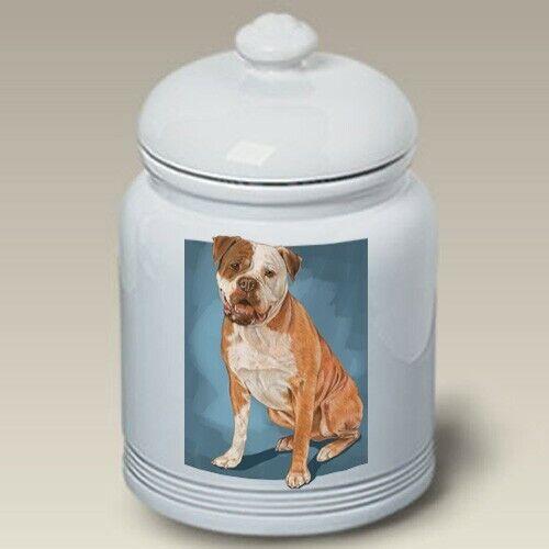 American Bulldog Ceramic Treat Jar PS 52300