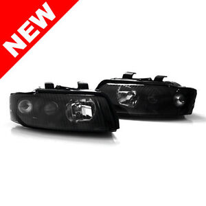 02-05-AUDI-A4-S4-B6-SEDAN-WAGON-E-CODE-PROJECTOR-HEADLIGHTS-BLACK