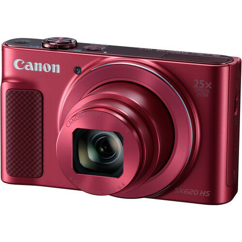 Canon PowerShot SX620 HS 20.2-Megapixel Digital Camera Red 1073C001