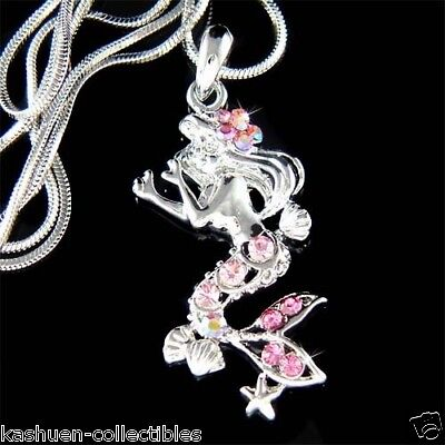 Seestern Pink (Mit Swarovski Kristall Meeres-Nymphe Pink Mermaid Seestern Anhänger Charme)