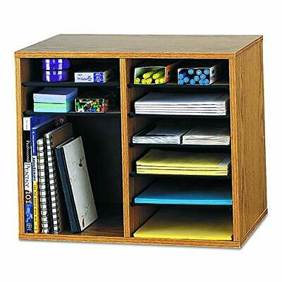 Safco Products Wood Adjustable Literature Organizer 12 Compartment 9420mo Med...