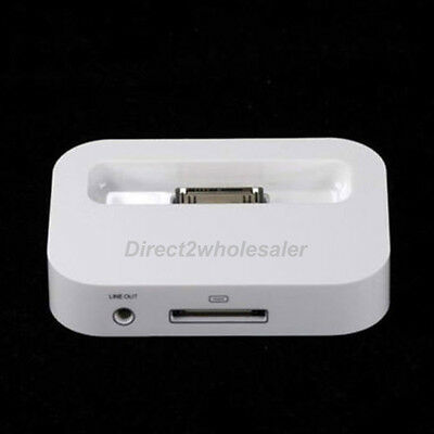 White New Charger Charging Sync Stand Dock Cradle For Apple iPhone4 4s 3G US