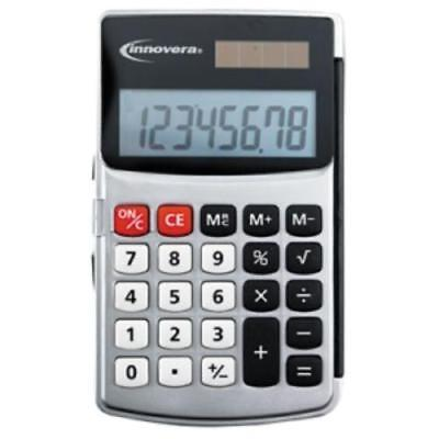 Innovera 15920 Handheld Calculator With Hard Flip Case - 8 Character[s] - Lcd -