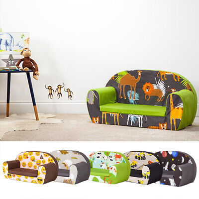 Children's Soft Foam Toddlers Sofa 2 Seater Seat Nursery Baby Settee Play Kids