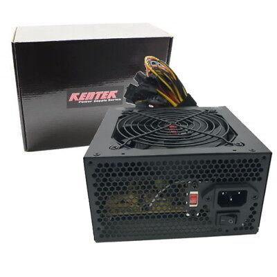 680 WATT 680W ATX 12V POWER SUPPLY 120MM Fan PC Desktop Computer NEW FAN PCIE