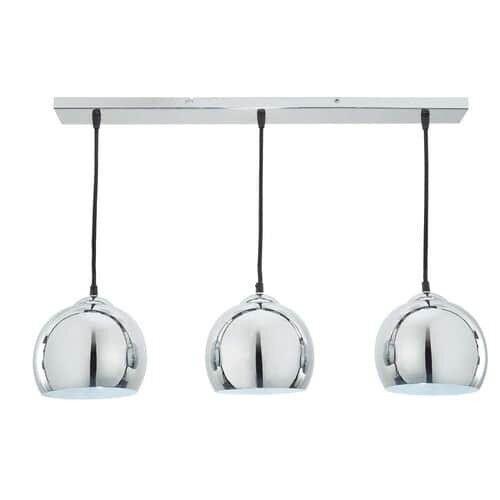 MAISONS DU MONDE RRP £66 Dining Table Ceiling Lamp Trio Chrome Hanging Pendant Industrial WINTER '17