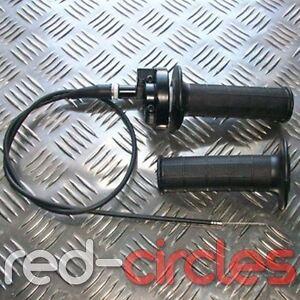 PIT DIRT BIKE QUICK ACTION THROTTLE TWIST GRIPS & CABLE SET 50cc 110cc PITBIKE