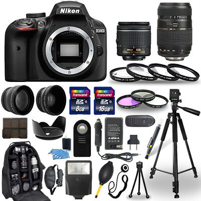 Nikon D3400 Digital Camera + 18-55mm + 70-300mm + 30 Piece Accessory Bundle