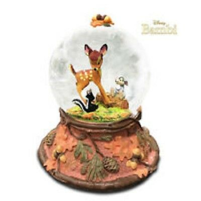 "NEW! Disney Hallmark Bambi & Thumper Snow Globe ""Forest Friends Forever"" CLX2012"