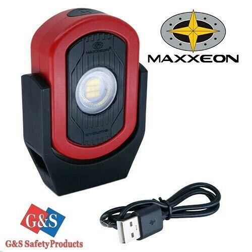 MAXXEON MXN00810 WorkStar Cyclops Rechargeable LED Area Work Light - Red/Black