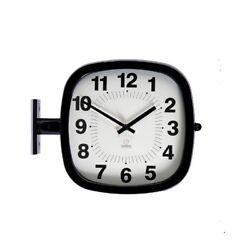 Modern Square Double Sided Wall Clock Design Station Clock Home Decor - P205BKA
