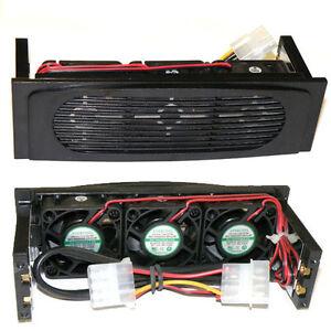 EverCool EC-HK-3F-BK Hard Disk Drive 5.25 inch Bay 3 Fan Case HDD Cooler Black