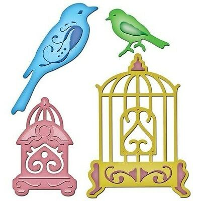 Spellbinders Shapeabilities Bird Sanctuary 4 Dies