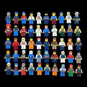 Grab Bag Lot of 10 LEGO Minifigures Figures Men People Minifigs from City Sets