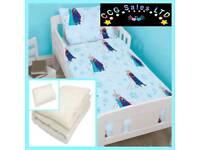 Official Disney Frozen Lights Reversible 4 Piece Toddler Duvet Set, 3.5 tog Quilt, Pillow Set