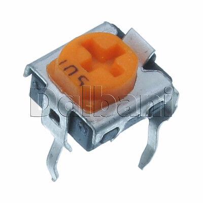 10pcs Type 501 500ohm Variable Resistor Trimpot Pot Adjustable 1turn Horizontal