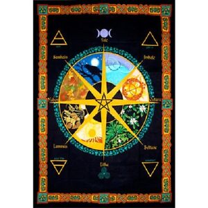 Pagan Calendar Year Tapestry 52 x 76