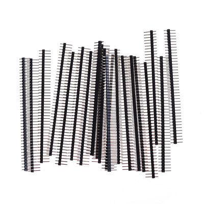 20pcs 40pin 2.54mm Single Row Straight Male Pin Header Connector Strip Vu